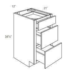3 drawer kitchen cabinet vdb1221 3 drawer vanity dover lunar rta kitchen cabinet