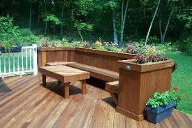 shelf making plans deck planter bench
