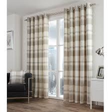Tartan Drapes Highland Tartan Lined Eyelet Curtains Pair With Plaid Check