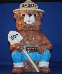 smokey the bear 50th anniversary cookie jar kitchen collectibles