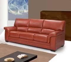 canapé en cuir italien canapé en cuir marron 3 places sofamobili