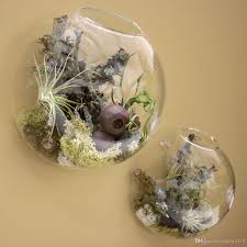 wall terrarium wall glass vase floating wall planters for