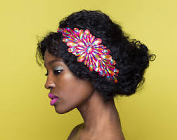 hairstyles with haedband accessories video thick hair curly hair natural hair by boutiquedebandeaux on etsy