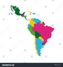 Map Icon Latin America Map Icon Over White Stock Vector 541932124