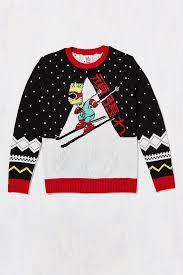 bart sweater lyst junk food bart ski sweater in black for
