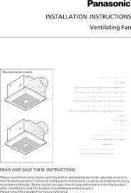panasonic fan fv 05 11vk1 panasonic ventilation hood fv 05 11vk1 user guide manualsonline com