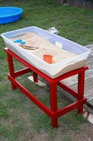 water table with cover plastic tubs cover with lid when done grandbaby ideas pinterest