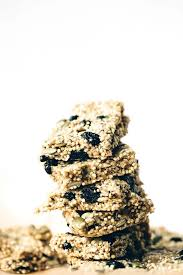 millet cuisine chewy vegan blueberry millet quinoa snack bars blissful basil