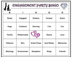 wedding words for bingo engagement party bingo 60 cards wedding themed bingo