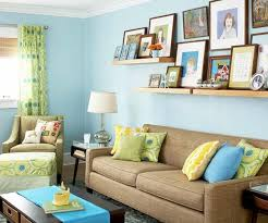 Blue Color Palette Couch Pillows Blue Brown Yellow Table Lamp - Green and yellow color scheme living room