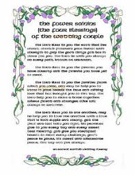 wedding blessings ancient scottish wedding blessing print four blessings of the