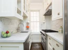 white galley kitchen ideas small white galley kitchen with sink across from stove