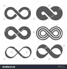 infinity sign infinity sign infinity flat icon mobius stock vector 481422997
