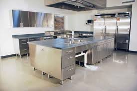Kitchen Steel Cabinets Great Stainless Steel Kitchen Cabinets Uk For Stai 1471x900