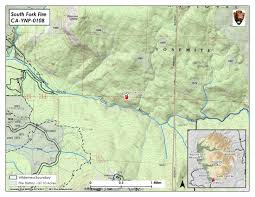 Map Of Yosemite Updates On South Fork Fire In Yosemite National Park For Monday