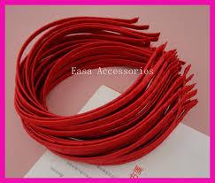 satin ribbon bulk 10pcs 5mm satin ribbon wrapped plain metal hair headbands silver