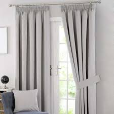 Curtain Pole Dunelm Solar Grey Blackout Pencil Pleat Curtains Dunelm