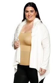 sweater with faux fur collar plus size faux fur collar cardigan sweater hadari