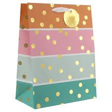 polka dot wrapping paper target pastel bold stripe gold polka dot gift bag spritz target