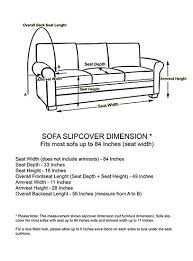 how to measure sofa for slipcover amazon com linen store microsuede slipcover furniture protector