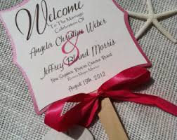 wedding fans favors 7 inch wedding fan program favor mickey mouse ears