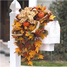 őszi postaláda ősz dekoráció fall mailbox swag