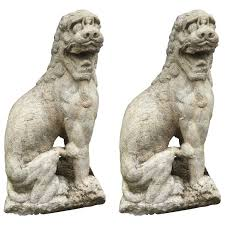 marble foo dogs garden solid marble foo dog lions house