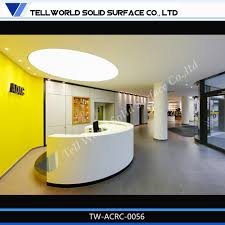 Reception Desk Sale by Artificial Stone Modern Half Round Reception Counter Design For