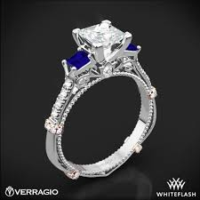 sapphires rings images Verragio dl 124p shared prong princess and sapphire 3 stone jpg