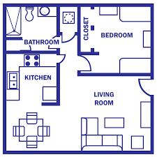 floor plan under 500 sq ft