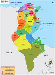 Is Time Zone Map by Tunis Map Map Of Tunis City Tunisia