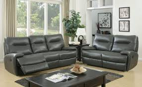 Grey Leather Reclining Sofa by Dallas Designer Furniture Binford Reclining Living Room Set In Gray
