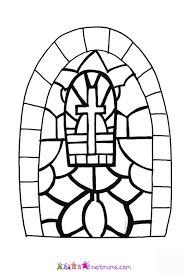 stained glass windows to colour in free coloring pages on art