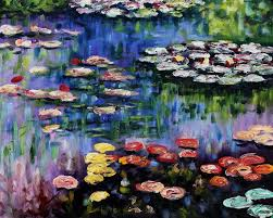 monet lily pond paintings monet lily pond paintingsgreen reflections on the water lily pond by claude monet oil