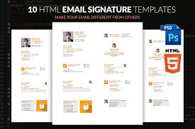 email signature template with html email templates creative market