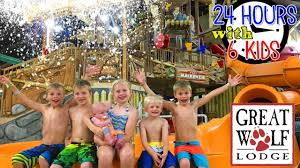 24 hours with 6 kids at the great wolf lodge youtube