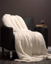 Faux Fur Bed Throw White Knit Mink Fur Throw Blanket Fursource Com