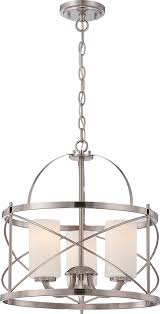 pendant lighting brushed nickel amazon com nuvo lighting 60 5333 three light pendant kitchen
