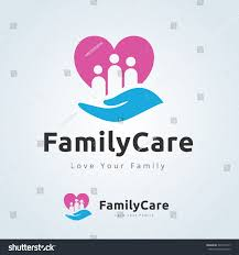 family care logolove familyfamily logovector logo stock vector