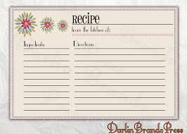 printable recipes templates free editable recipe card templates for microsoft word free download