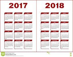 Kalender 2018 Helgdagar Kalender 2017 2018 Vektor Illustrationer Bild Av Scheman 78495417