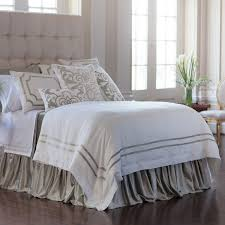 soho white linen with ice silver velvet trim duvet ice white