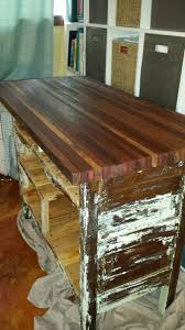 rustic kitchen island how to turn an ugly dresser into a rustic kitchen island cart