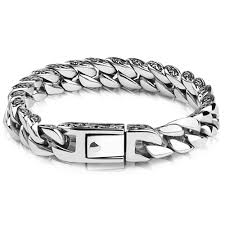 bracelet homme images Men 39 s sterling silver chaine celtic knot pattern bracelet jpg