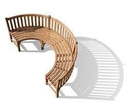 Curved Teak Garden Bench Henley Teak Curved Bench