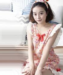 asia fashion wholesale chiffon sleep dress 517 kawaii pastel vintage sleepwear pajamas