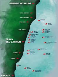 Playa Del Carmen Mexico Map by
