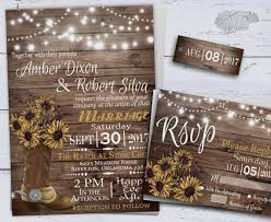 western wedding invitations sunflower wedding invitations printable rustic wedding country