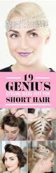 21 genius styling ideas just for short hair short hair hacks