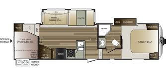 house plan rear kitchen rv floor extraordinary keystone cougar